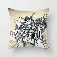 transformer Throw Pillows featuring Transformer by Dave Houldershaw