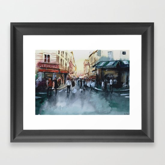 PARIS Street - Painting Framed Art Print