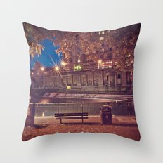Night Time in the Park  Throw Pillow