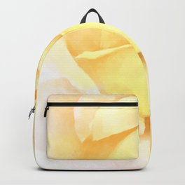 Blushing Yellow Rose Backpack