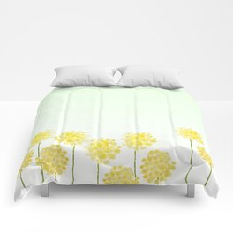 two abstract dandelions watercolor Comforters