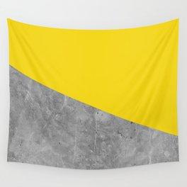 Geometry 101 Vivid Yellow Wall Tapestry