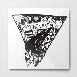 Psychoville black ink drawing Metal Print