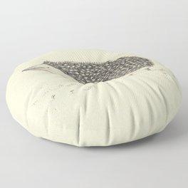 Monochrome Hedgehog Floor Pillow