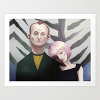 lost in translation Art Prints featuring Lost in translation  by Maripili
