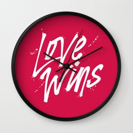 Love Wins Wall Clock