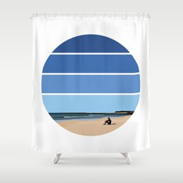 The Waiting Game Shower Curtain