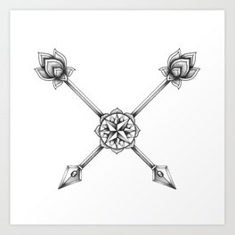 Ornate Arrows Art Print