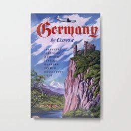 Germany Vintage Travel Poster Metal Print