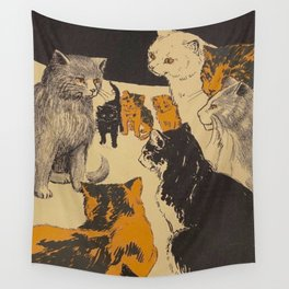 Pussy-cat town - Marion Ames Taggart and Rebecca Chase - 1906 Wall Tapestry