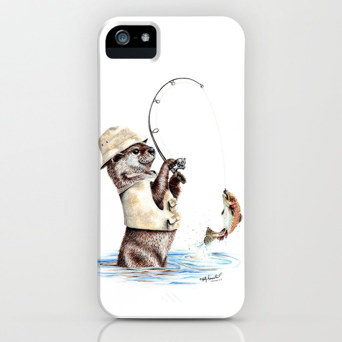 natures fisherman iphone case