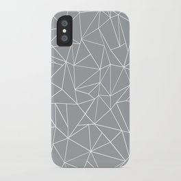 Abstraction Outline Grey iPhone Case