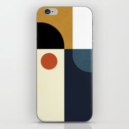 mid century abstract shapes fall winter 4 iPhone Skin