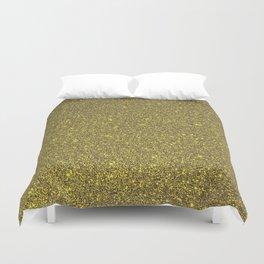 Golden Glitter Duvet Cover