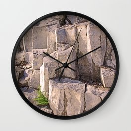 LITTLE LONE TREE IN COLUMNAR BASALT FORMATION Wall Clock