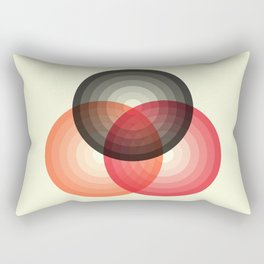 Three colour circles, inspired by Lacouture's Répertoire chromatique Rectangular Pillow