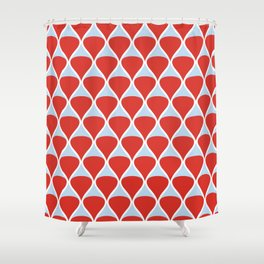Drops .red Shower Curtain