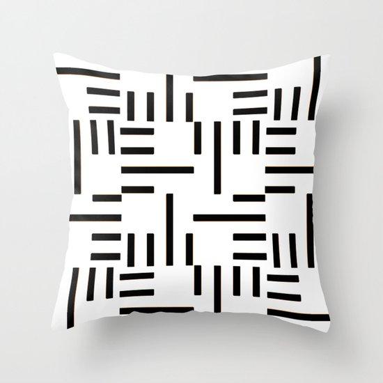 Kemper Black & White Throw Pillow