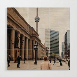 CN Tower Downtown Toronto Wood Wall Art
