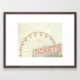 Ticket Booth Framed Art Print