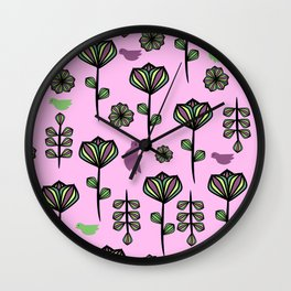 Floral joy Wall Clock