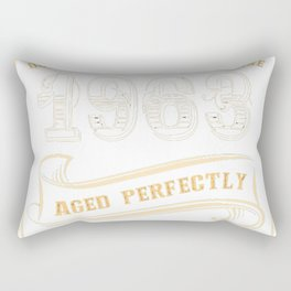 54th-Birthday-Gift-Gold-Vintage-1963-Aged-Perfectly Rectangular Pillow