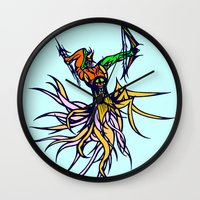 archer Wall Clocks featuring Atlantean Archer by Robert Cooper