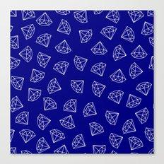 Navy Blue Diamond Pattern Canvas Print