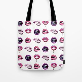 Sexy Pink lips pattern Tote Bag