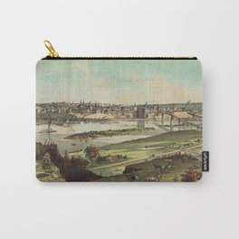 Aerial View of St. Paul, Minnesota (1874) Carry-All Pouch