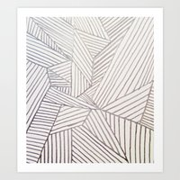 stripe Art Prints featuring stripe by HooVeHee