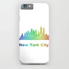 Rainbow New York City skyline Slim Case iPhone 6s