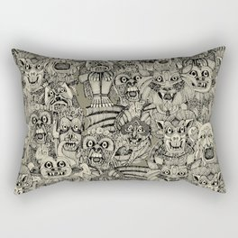 gargoyles vintage black Rectangular Pillow