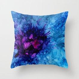 Amethyst Freeze Throw Pillow