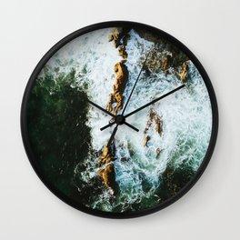 OCEAN - SEA - WATER - ROCKS - PHOTOGRAPHY Wall Clock
