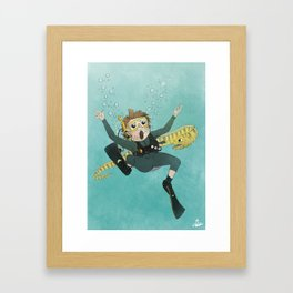 Underwater Scuba Diving Adventure Framed Art Print