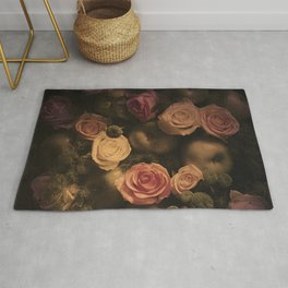 Green apples and Roses Rug