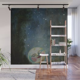 Always Kiss the Moon Goodnight  Wall Mural