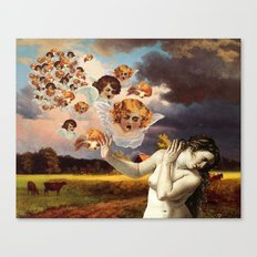 Putti Attack Canvas Print