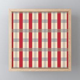 Red Striped Plaid Framed Mini Art Print