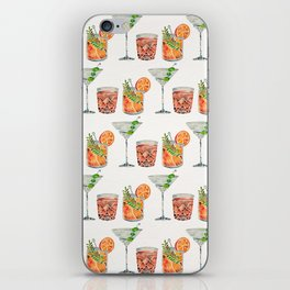 Classic Cocktails  – 1960s Watercolor Lineup iPhone Skin