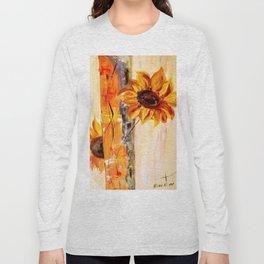 abstract sunflower Long Sleeve T-shirt