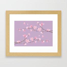 Cherry Blossom - Pale Purple Framed Art Print