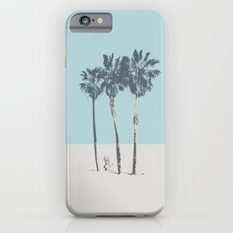 Palm trees on a solitary beach iPhone Case