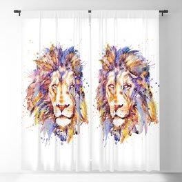 Lion Head Blackout Curtain