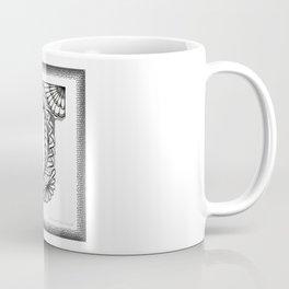 Zentangle J Monogram Alphabet Initials Coffee Mug