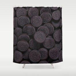 Oreo Cookie Pattern Illustration Shower Curtain