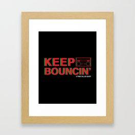 KEEP BOUNCIN' - A TRIBE CALLED QUEST Framed Art Print