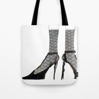 shoes Tote Bags featuring Shoes by Manon Dasiy Fraiture