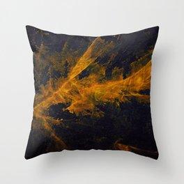 Golden splach tie dye Throw Pillow